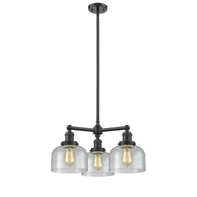Ailbe Large Bell 3-Light Mini Chandelier Finish: Oil Rubbed Bronze