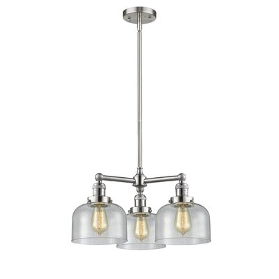 Ailbe Large Bell 3-Light Mini Chandelier Finish: Brushed Satin Nickel