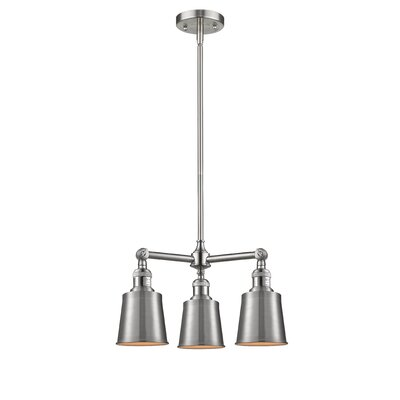 Carn 3-Light Mini Chandelier Finish: Brushed Satin Nickel