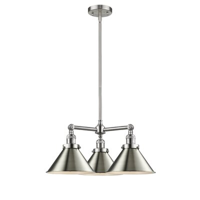 Doolittle 3-Light Mini Chandelier Finish: Brushed Satin Nickel