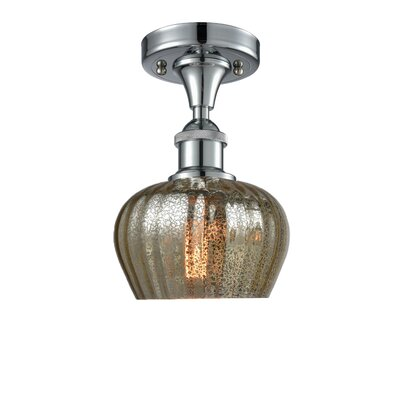 Dooling 1-Light Semi Flush Mount Fixture Finish: Polished Chrome