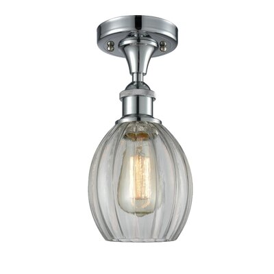 Raylene 1-Light Semi Flush Mount Fixture Finish: Polished Chrome
