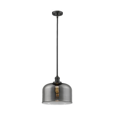 Che 1-Light Mini Pendant Finish: Oil Rubbed Bronze, Shade Color: Smoked, Size: 13 H x 12 W x 12 D