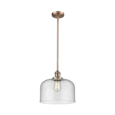 Alvy X-Large Bell 1-Light Mini Pendant Finish: Antique Copper, Size: 13 H x 12 W x 12 D