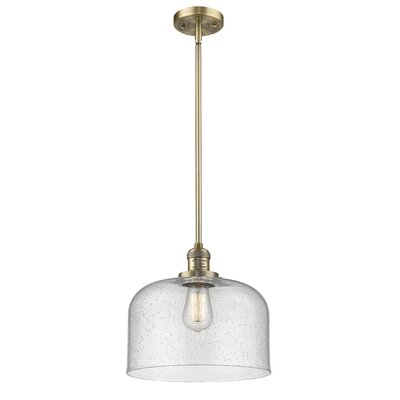 Alvy X-Large Bell 1-Light Mini Pendant Finish: Brushed Brass, Size: 13 H x 12 W x 12 D