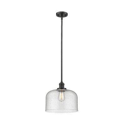 Alvy X-Large Bell 1-Light Mini Pendant Finish: Oil Rubbed Bronze, Size: 13 H x 12 W x 12 D