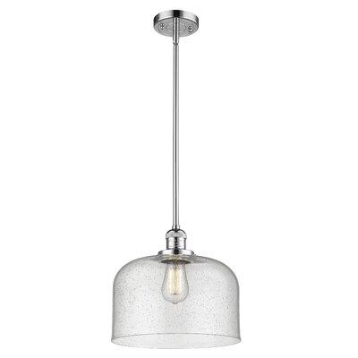 Alvy X-Large Bell 1-Light Mini Pendant Finish: Polished Chrome, Size: 16 H x 12 W x 12 D