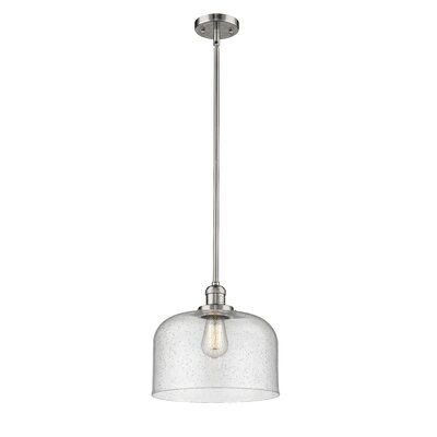 Alvy X-Large Bell 1-Light Mini Pendant Finish: Polished Nickel, Size: 13 H x 12 W x 12 D