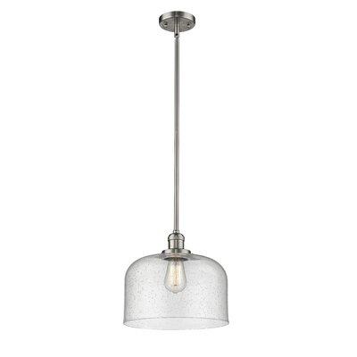Alvy X-Large Bell 1-Light Mini Pendant Finish: Brushed Satin Nickel, Size: 13 H x 12 W x 12 D