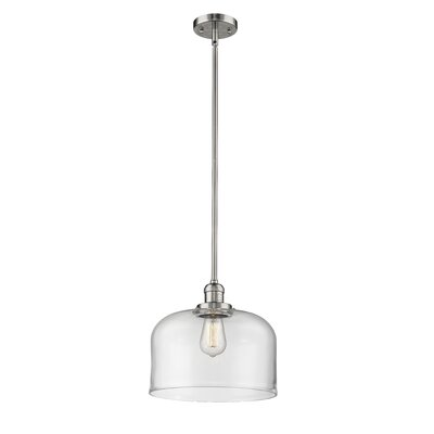 Che 1-Light Mini Pendant Finish: Polished Nickel, Shade Color: Clear, Size: 13 H x 12 W x 12 D