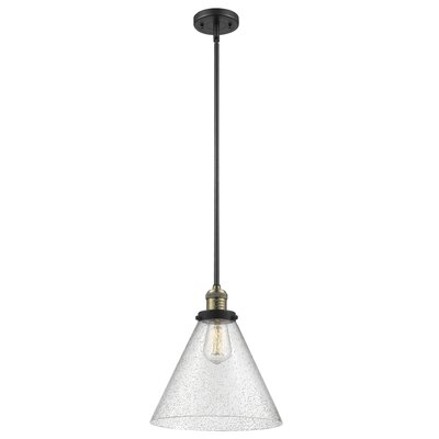 Conrado 1-Light Mini Pendant Finish: Black/Brushed Brass