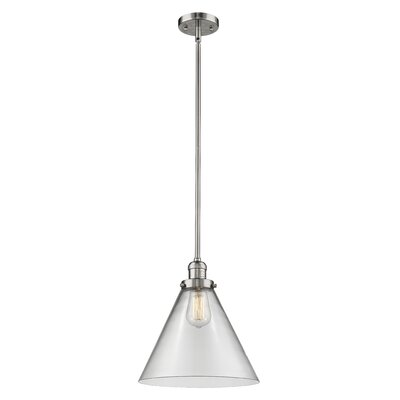 Elonso 1-Light Mini Pendant Finish: Polished Nickel, Shade Color: Clear