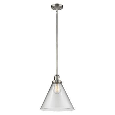 Elonso 1-Light Mini Pendant Finish: Brushed Satin Nickel, Shade Color: Clear