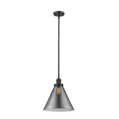 Elonso 1-Light Mini Pendant Finish: Oiled Rubbed Bronze, Shade Color: Smoked