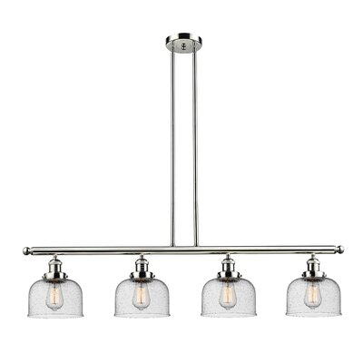 Emberto 4-Light Kitchen Island Pendant Finish: Polished Nickel
