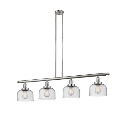 Emberto 4-Light Kitchen Island Pendant Finish: Brushed Satin Nickel