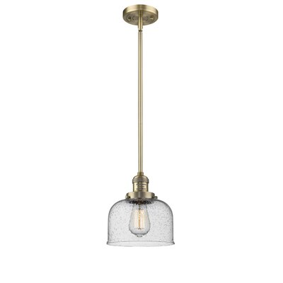 Estefan 1-Light Mini Pendant Finish: Brushed Brass