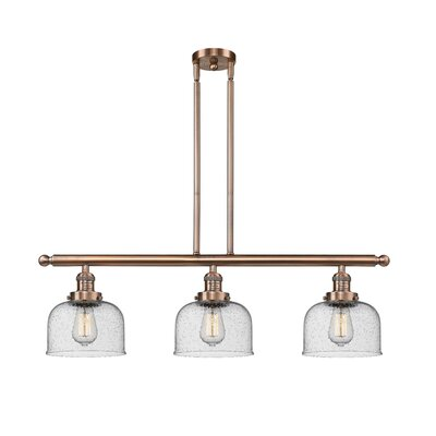 Adalhard 3-Light Kitchen Island Pendant Finish: Antique Copper