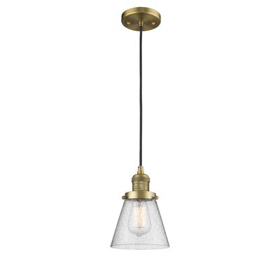 Adalwen 1-Light Mini Pendant Finish: Brushed Brass