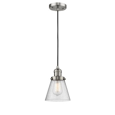 Adalwen 1-Light Mini Pendant Finish: Brushed Satin Nickel
