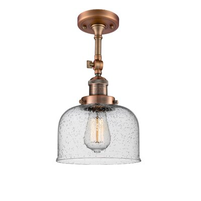 Adne 1-Light Semi Flush Mount Fixture Finish: Antique Copper