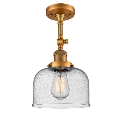 Adne 1-Light Semi Flush Mount Fixture Finish: Brushed Brass