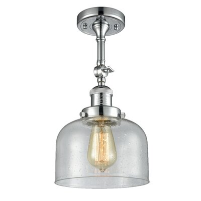 Adne 1-Light Semi Flush Mount Fixture Finish: Polished Chrome