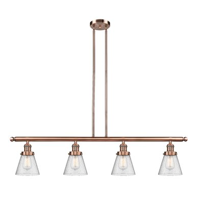 Alarick 4-Light Kitchen Island Pendant Finish: Antique Copper