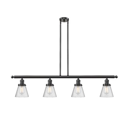 Alarick 4-Light Kitchen Island Pendant Finish: Oil Rubbed Bronze