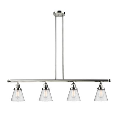Alarick 4-Light Kitchen Island Pendant Finish: Polished Nickel