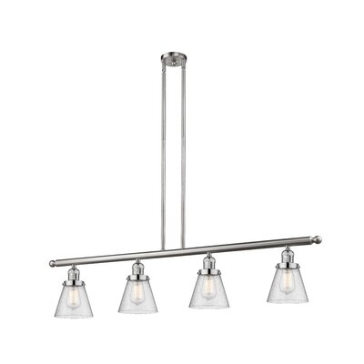 Alarick 4-Light Kitchen Island Pendant Finish: Brushed Satin Nickel
