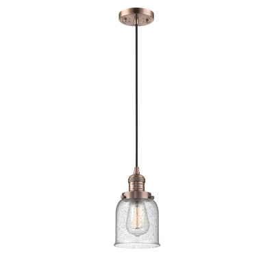 Alvarie 1-Light Mini Pendant Finish: Antique Copper, Size: 10 H x 6 W x 6 D