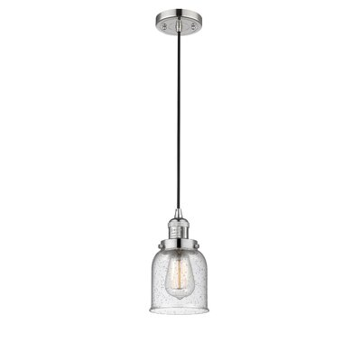 Alvarie 1-Light Mini Pendant Finish: Polished Nickel, Size: 10 H x 5 W x 5 D