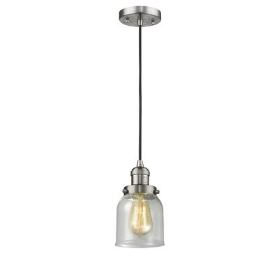 Alvarie 1-Light Mini Pendant Finish: Brushed Satin Nickel, Size: 10 H x 8 W x 8 D