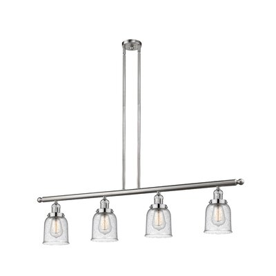 Aloysia 4-Light Kitchen Island Pendant Finish: Brushed Satin Nickel