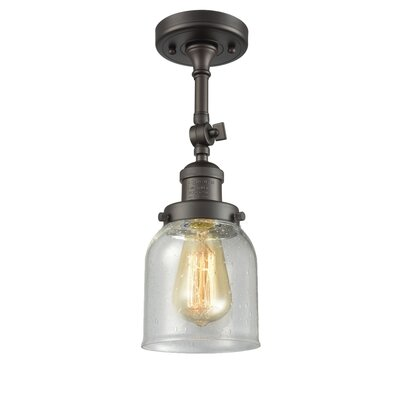 Arsen Small Bell 1-Light Semi Flush Mount Fixture Finish: Oil Rubbed Bronze