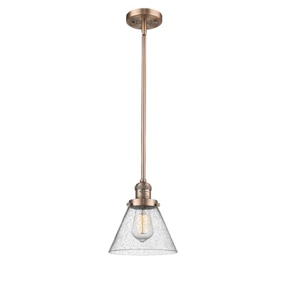 Fabio 1-Light Mini Pendant Finish: Antique Copper, Size: 10 H x 8 W x 8 D