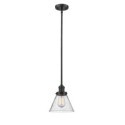 Fabio 1-Light Mini Pendant Finish: Oiled Rubbed Bronze, Size: 8 H x 6 W x 6 D
