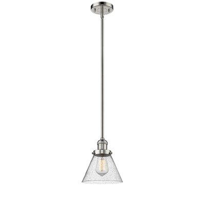 Fabio 1-Light Mini Pendant Finish: Polished Nickel, Size: 8