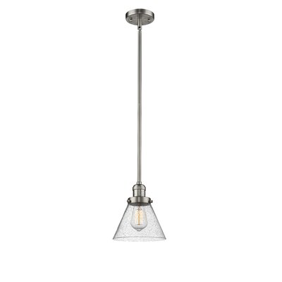 Fabio 1-Light Mini Pendant Finish: Brushed Satin Nickel, Size: 10 H x 8 W x 8 D