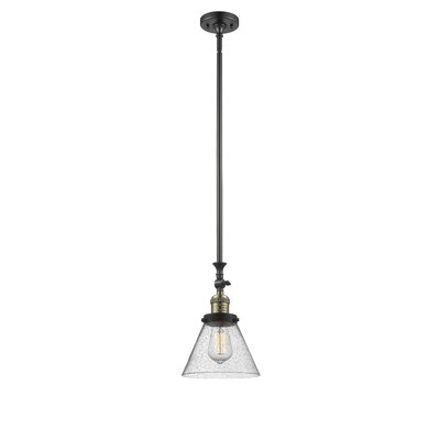 Fabio 1-Light Mini Pendant Finish: Black/Brushed Brass