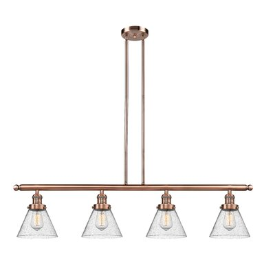 Fabio 4-Light Kitchen Island Pendant Finish: Antique Copper