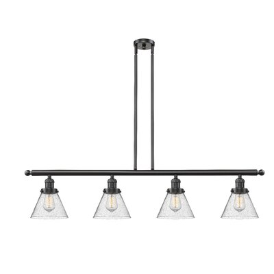 Fabio 4-Light Kitchen Island Pendant Finish: Oil Rubbed Bronze