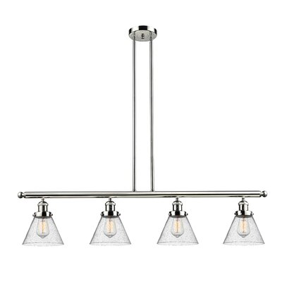 Fabio 4-Light Kitchen Island Pendant Finish: Polished Nickel