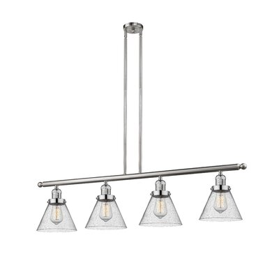 Fabio 4-Light Kitchen Island Pendant Finish: Brushed Satin Nickel