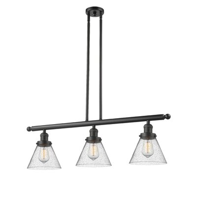 Adalwen 3-Light Kitchen Island Pendant Finish: Oil Rubbed Bronze