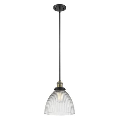 Deserie 1-Light Mini Pendant Finish: Black Brushed Brass