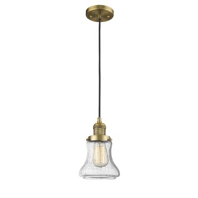 Nardone 1-Light Mini Pendant Color: Brushed Brass