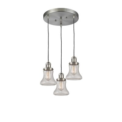 Nardone 3-Light Cluster Pendant Color: Brushed Satin Nickel