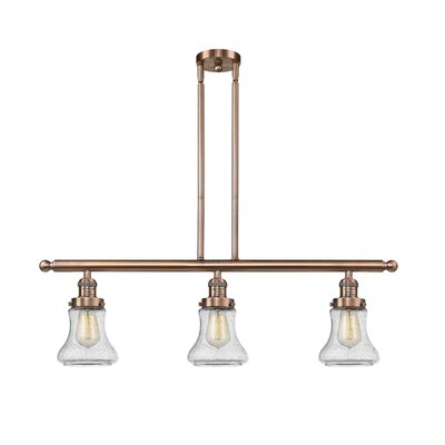 Aubrielle 3-Light Kitchen Island Pendant Finish: Antique Copper